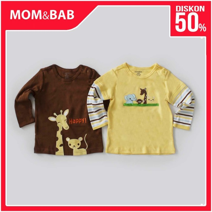Foto Produk Mom n Bab Long Tee 2in1 - Animal - 6 Bulan dari Mom n Bab