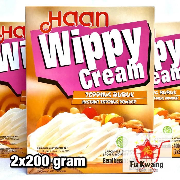 Foto Produk Haan Wippy Whippy Whipped Whip Whipping Cream Topping Bubuk 400 gram dari Fu Kwang Mart