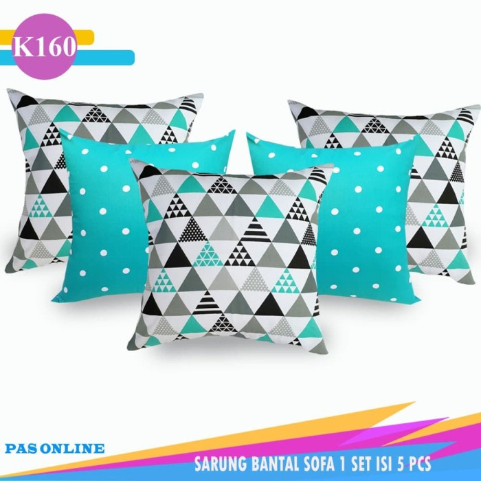 Foto Produk SARUNG BANTAL SOFA / CUSHION COVER 1 SET ( ISI 5 PCS ) dari pondok aren shop