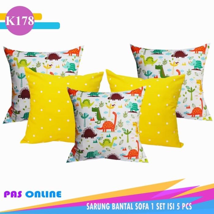Foto Produk Sarung Bantal Sofa Set Kombinasi ( 1 Set Isi 5 Pcs ) dari pondok aren shop