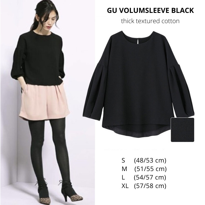Foto Produk Blouse Wanita GU by Uniqlo Volumsleeve Black dari Bosshopping