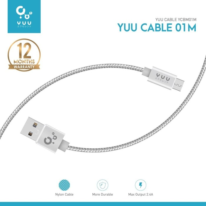 Foto Produk YUU DATA CABLE 2.4A USB-A TO MICRO USB – YCBM01M dari YUU INDONESIA