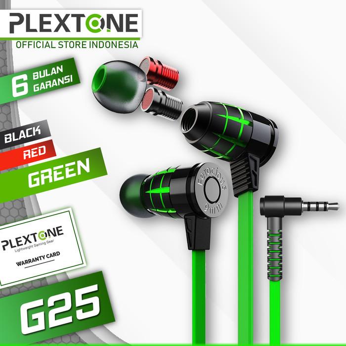 Foto Produk Plextone G25 Gaming Earphone Noise Canceling Stereo Headset alt G20 - Hijau dari Plextone Official