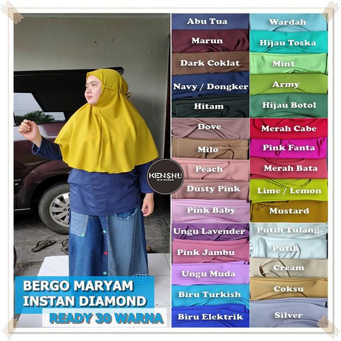 Jual Kerudung Hijab Hijab Instan Bergo Maryam Diamond Instan 30 Warna Hijau Botol Kota Bandung Kenshu Store Tokopedia