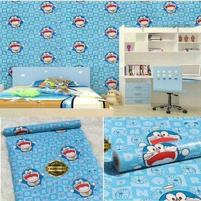 Jual Wallpaper Sticker Dinding Murah Dekor Kamar Anak Kartun Doraemon Biru Jakarta Pusat Greenfruit99 Tokopedia