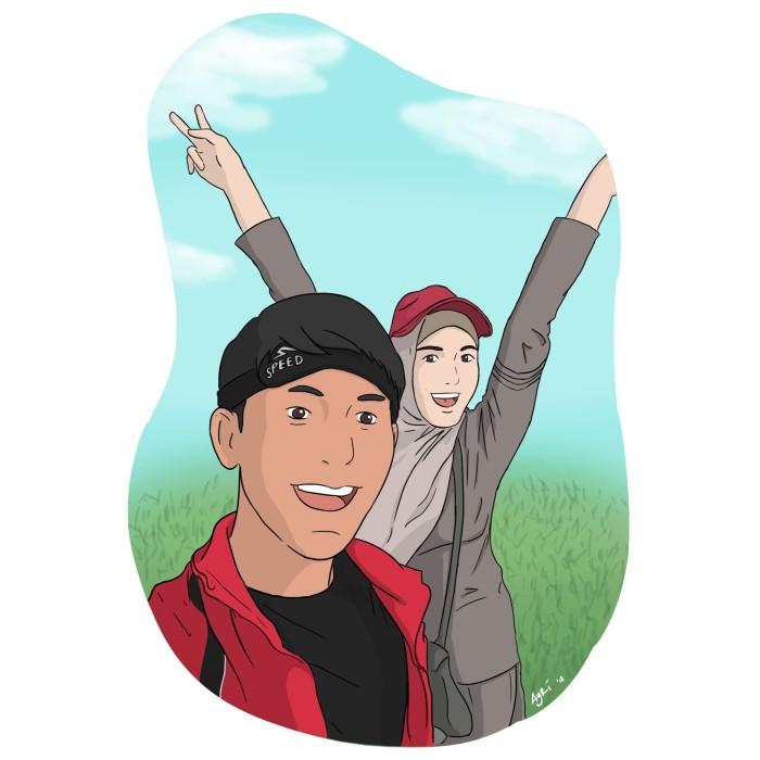 Jual Gambar Ilustrasi Karikatur Kartun Digital Duo 2 Orang Sesuai Foto Kab Tangerang Di Toko Sam Tokopedia