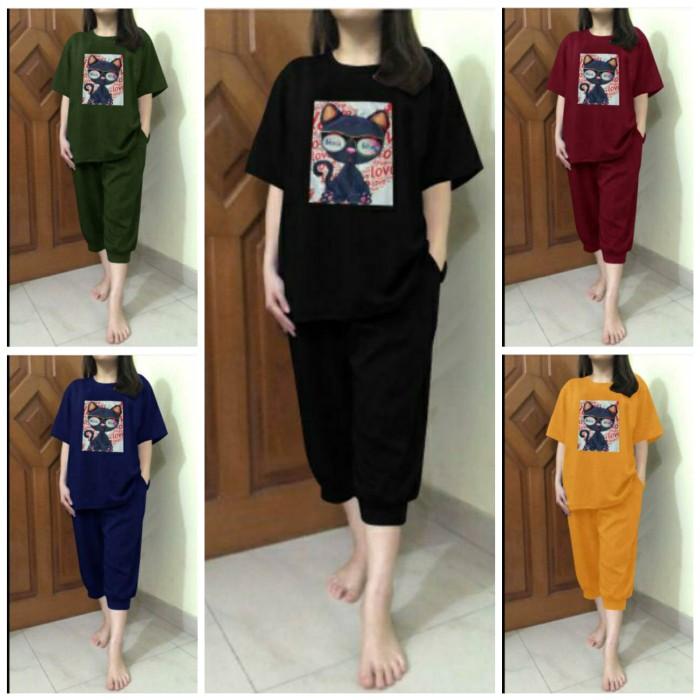 Foto Produk SU SET YUSIKA JUMBO XXL Setelan Kaos Celana Pendek Wanita dari TARA's Collections