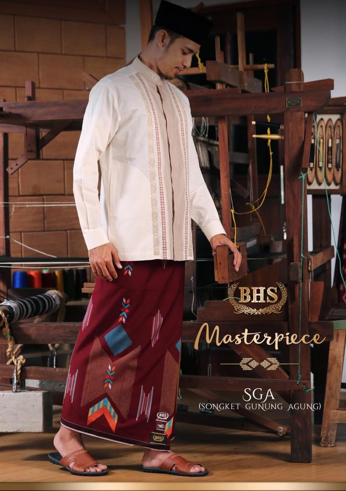 Foto Produk Grosir 5 pcs Sarung BHS Songket Gunung Agung (SGA) warna campur dari Sarung BHS Official