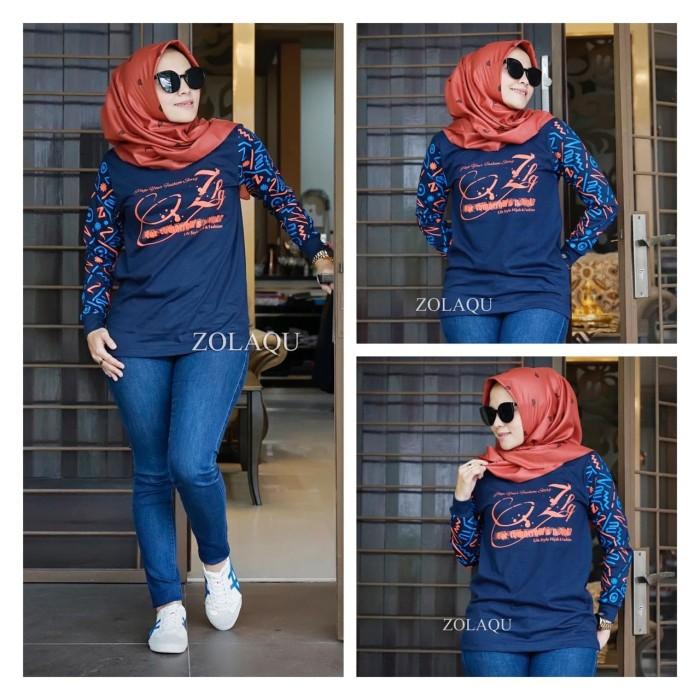 Foto Produk Atasan wanita kaos wanita blouse wanita kaos zolaqu new terbaru dari syabiya