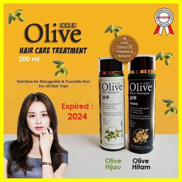 Foto Produk Shampo Olive Black Hair Rambut Kemiri Hitam Korea Ori 200ml 200 ml - Hitam dari Iyesh Online Store