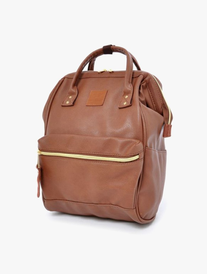 Foto Produk anello - RETRO Kuchigane Backpack Small - Brown dari Anello Official