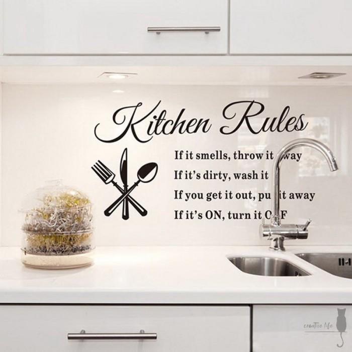 Jual Diy Home Decoration Kitchen Home Kitchen Rules Quote Wall Stickers Kota Denpasar Bali Series Tokopedia