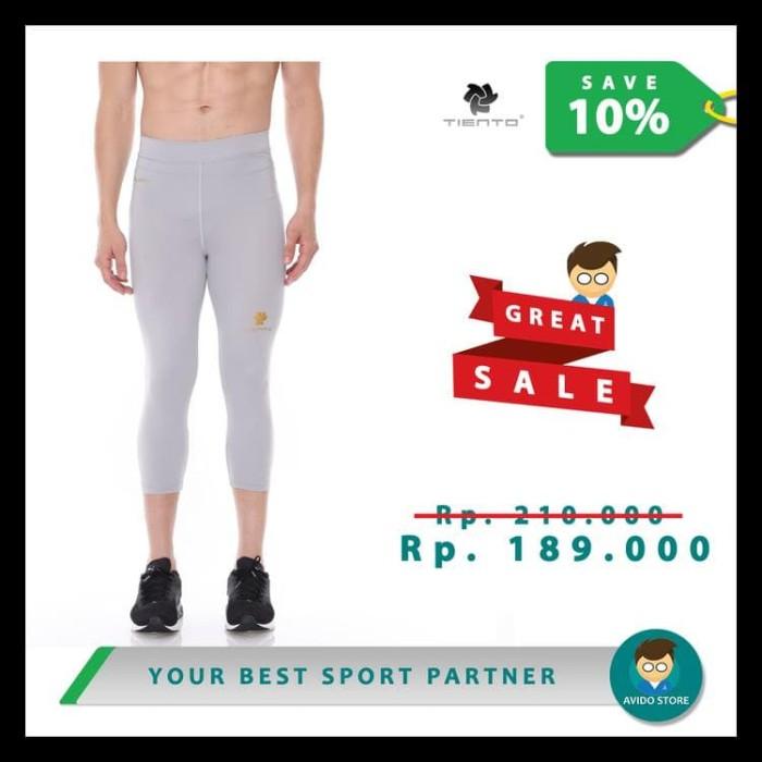 Jual Tiento Baselayer Celana Olahraga Pria Legging Leging 3 4 Pants Grey Jakarta Barat Adicandra 89 Tokopedia
