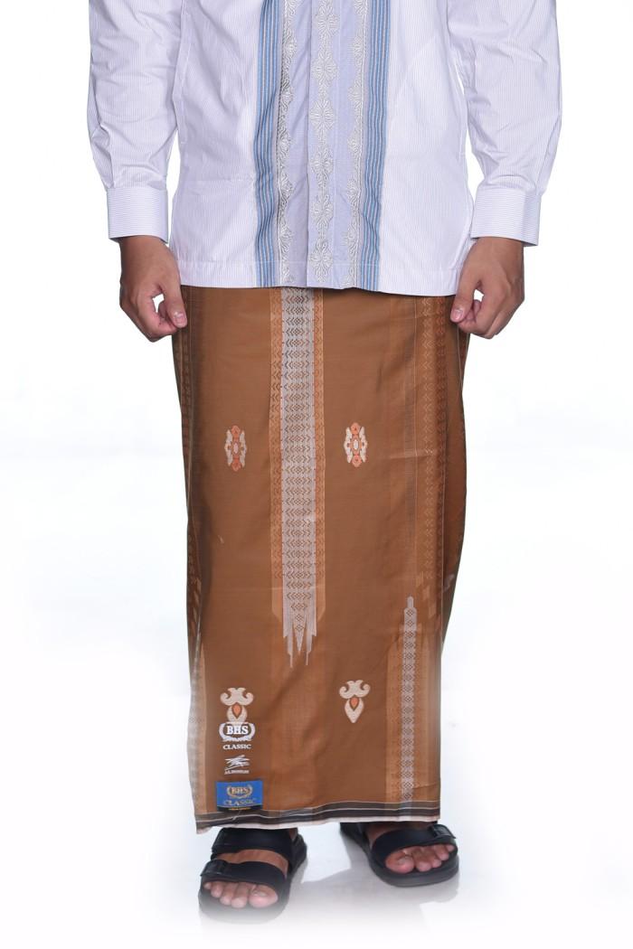 Foto Produk Sarung BHS Gold Classic motif Jacquard Gunung Eksklusif Cokelat dari Sarung BHS Official