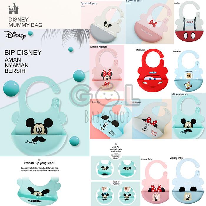 Foto Produk Slabber karet celemek makan bayi karet silicone baby bip DISNEY dari Gol Baby Shop