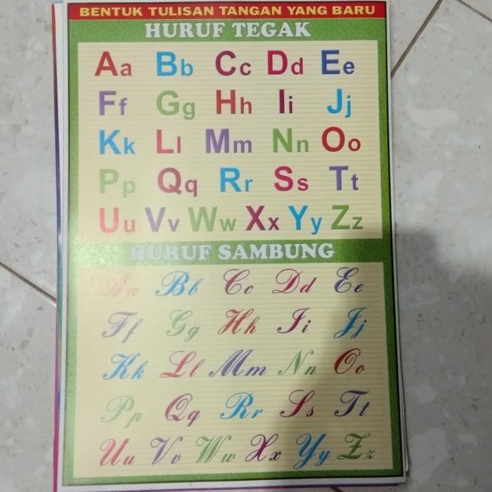 Jual Poster Abjad Abc Huruf Besar Kecil Untuk Anak Kota Kediri Nusantara Unique Rezeki Tokopedia