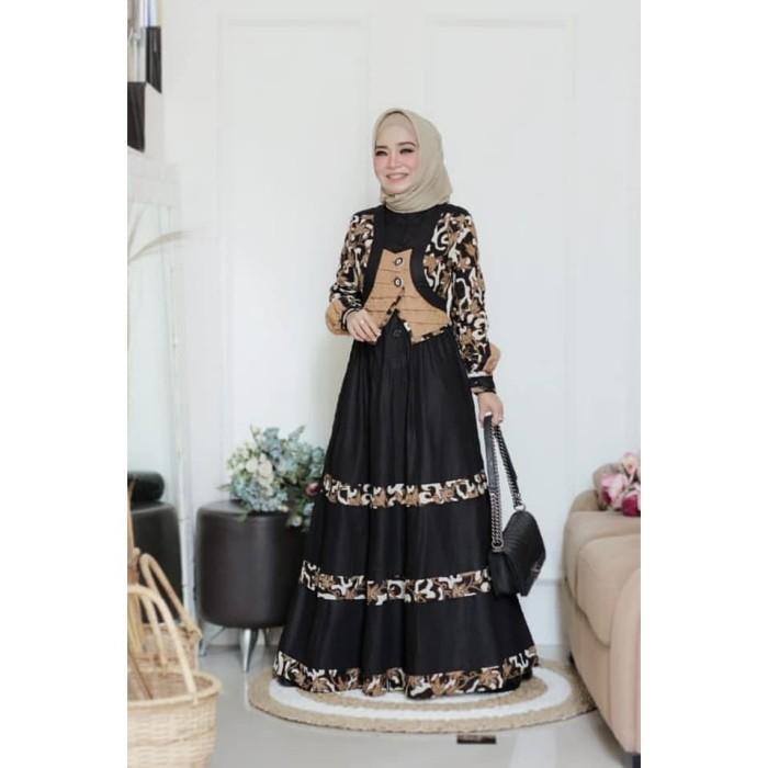 Jual Gamis Pesta Batik Wanita Esme Fashion E 050609 Best Seller Original S Kab Sleman Butik Sasmaya Tokopedia