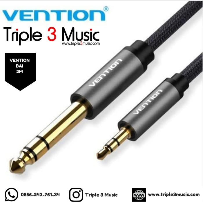 Foto Produk Vention BAI 2M Kabel Audio 6.5mm to Aux 3.5mm Nylon Braided Pure dari triple3music