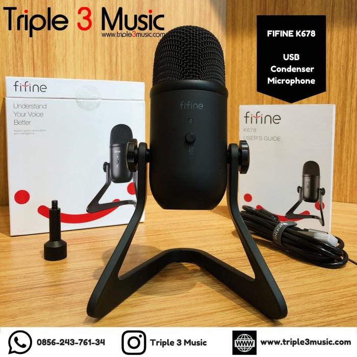 Foto Produk Fifine K678 Mic Condenser USB Mic PS4 Gamers Mic Youtuber triple3music dari triple3music