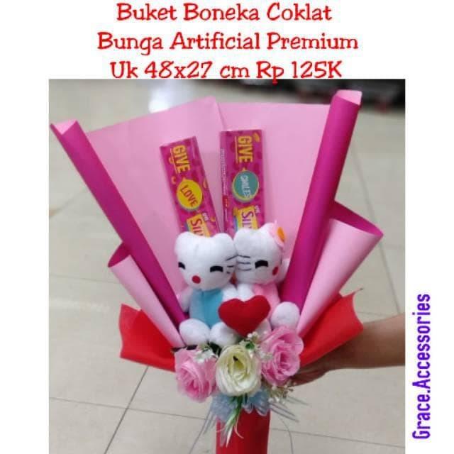 Jual Buket Boneka Coklat Bunga Mawar Valentine Valentin Ramadhan Sale Kota Depok Ayunan Grosir Tokopedia