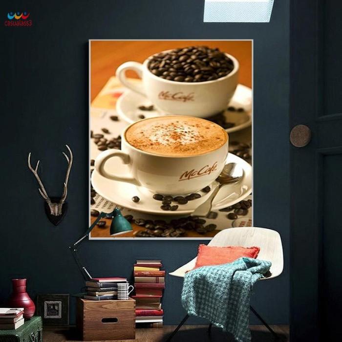 Foto Produk 30*40cm DIY 5D Diamond Painting Home Decoration Coffee Cup Crystal dari HEYNOVA