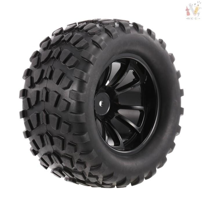 Foto Produk ❤RCC❤ 4PCS 1/10 Tyre Nail Block Tread Pattern 10 Spokes Rim for dari HEYNOVA