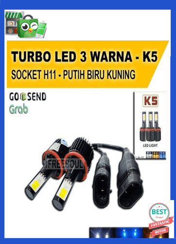 Jual Lampu Led Mobil Socket H11 Lampu Turbo K5 Led 3 Warna Universal Jakarta Barat Jovan Ananda Tokopedia