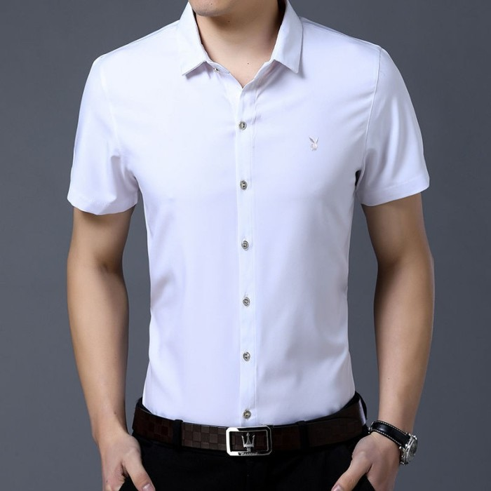Foto Produk ✧✜Playboy men's Wear free-ironing long-sleeved shirt slimming dari HEYNOVA