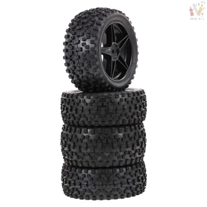 Foto Produk ❤RCC❤ 4PCS 1/10 RC Off-road Tyre Nail Block Tread Pattern dari HEYNOVA