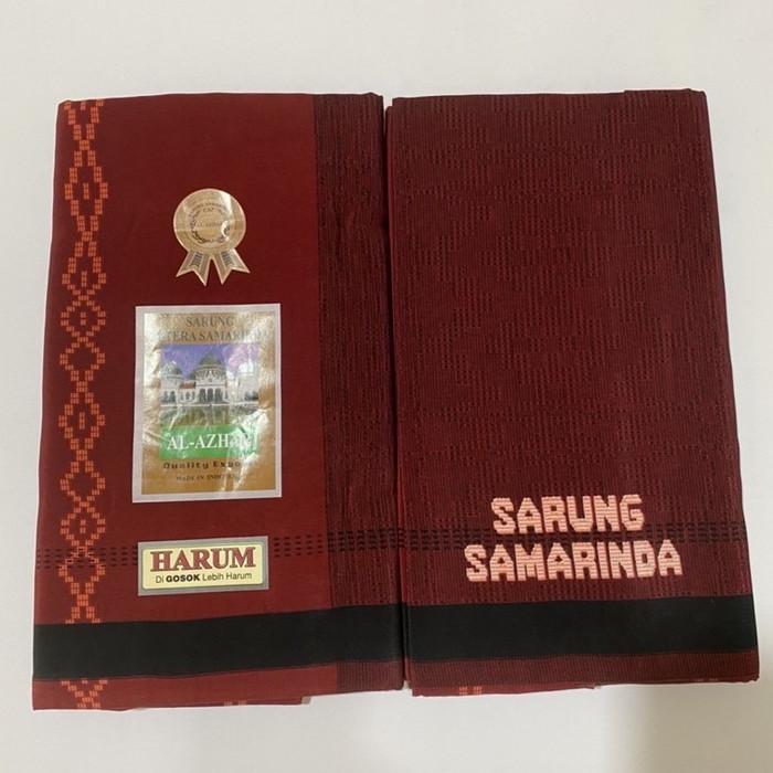 Foto Produk Sarung Samarinda Al Azhar type sapphire - Merah dari indosarung