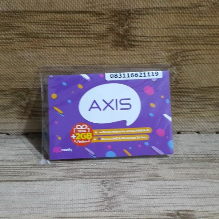 Foto Produk Nomor Cantik Axis 1662 1119 Kartu Perdana Axis 4G Ready 30 Nov 2020 dari idStoreplus