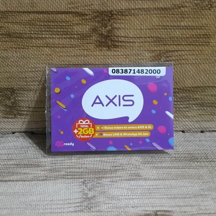 Foto Produk Nomor Cantik Axis 7148 2000 Kartu Perdana Axis 4G Ready 30 Nov 2020 dari idStoreplus