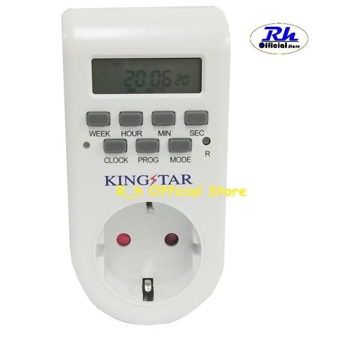 Foto Produk Stop Kontak Timer Digital / Timer Otomatis Kingstar / Kaiser - Kaiser dari R_h Official Store