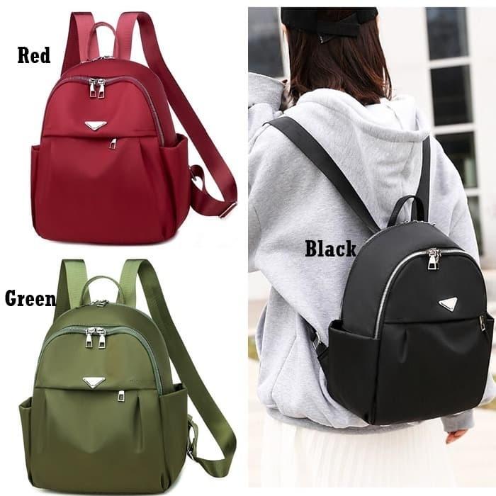 Foto Produk Tas Ransel Nylon E6008 Backpack Cewek Parasut Korea Style Impor Grosir dari Gudang Distributor Murah