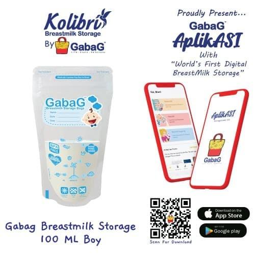 Foto Produk GABAG - Kantong ASI 100 Ml blue NEW dari GabaG Indonesia