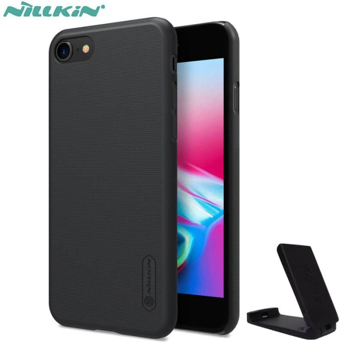 Foto Produk Nillkin Hard Case iPhone SE 2020 - Frosted Shield Black Casing Ori dari Logay Accessories