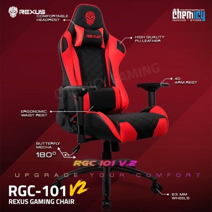 Jual Rexus Gaming Chair / Kursi Gaming RGC 101 Red ...