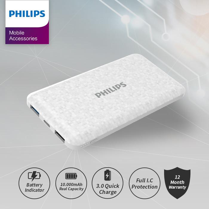 Foto Produk POWERBANK Philips 10.000 MAH DLP-6715 - Putih dari Philips Mobile Acc
