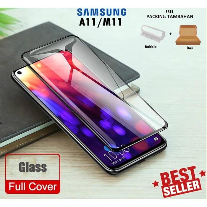 Foto Produk Tempered Glass Samsung A11 M11 Full Glue Warna Cover Anti Gores Kaca dari Michellisto
