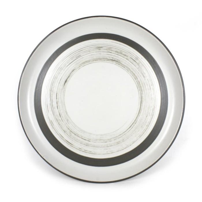 Foto Produk Artisan Ceramic | White SMT/Darke Grey Side Plate | Piirng Keramik dari Artisan Ceramic