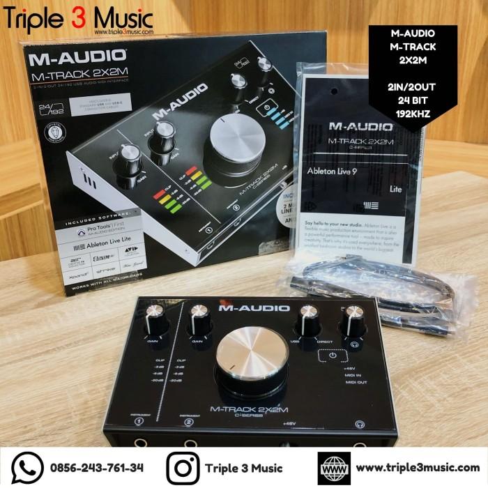 Foto Produk M-Audio M-Track MAUDIO MTRACK 2X2M 2X2 M Soundcard Recording dari triple3music