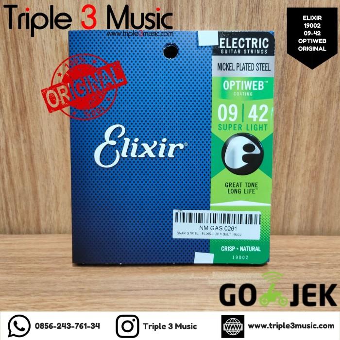 Foto Produk Elixir 19002 Optiweb ORIGINAL Senar gitar Elektrik 09-42 Triple3music dari triple3music