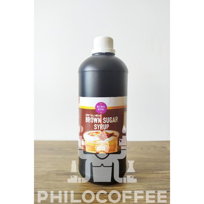Foto Produk Boba King Brown Sugar Syrup 1 liter | Sirup Gula Merah Gula Aren dari Philocoffee