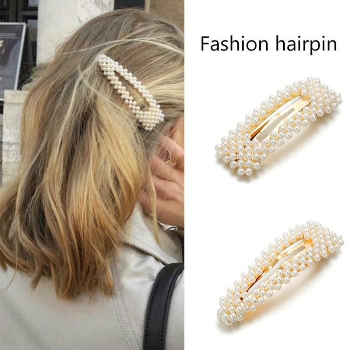 Foto Produk IK16 Korea Pearl Fashion Hair Pin Jepit Rambut - hp satu dari EnnWen Online Store