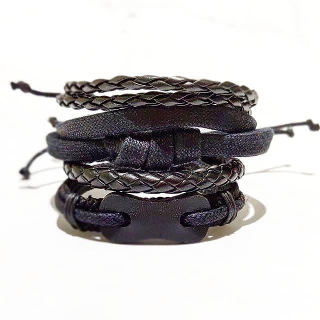 Foto Produk [COD] Gelang Kulit set unisex Allsize gelang pria gelang wanita 4 dari DHV store