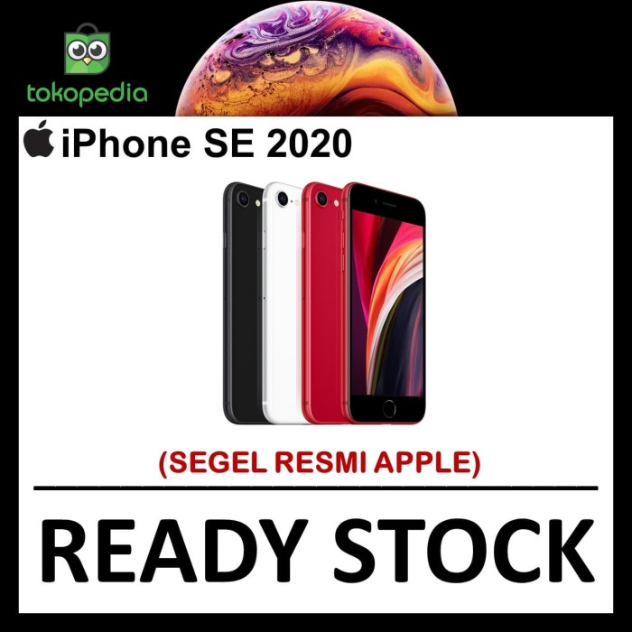 Foto Produk Ready Apple iPhone SE 2 2020 64gb black white red - black dari Big Berry Cellular
