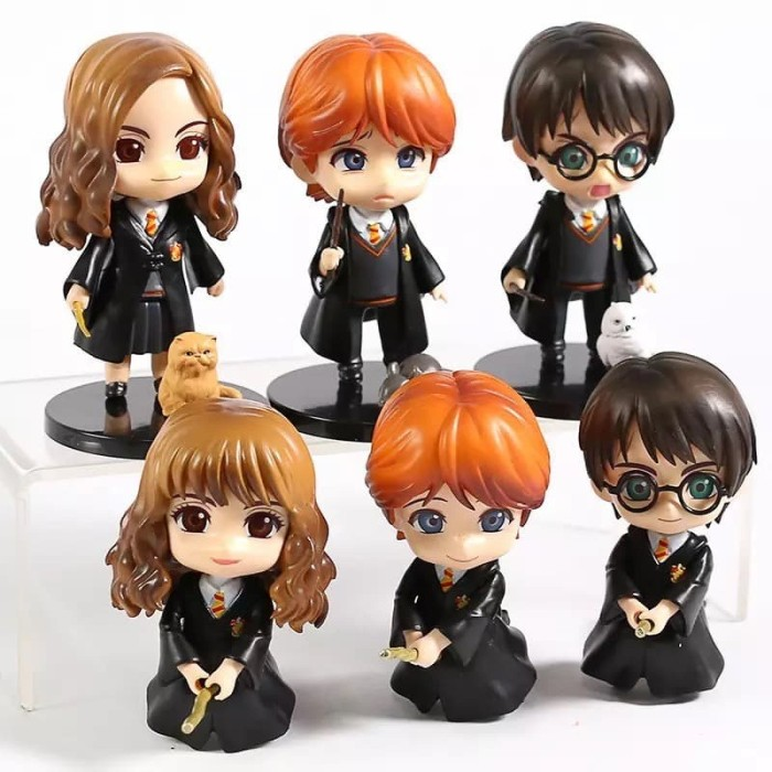 Foto Produk Action Figure Qposket Harry Potter Ron Weasley Hermione Granger Set 6 dari Boluner-Shop