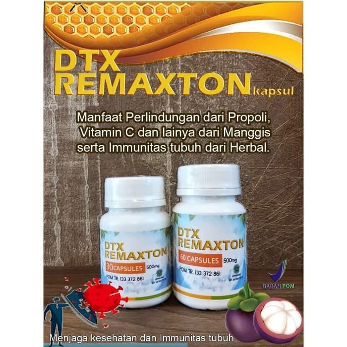 Foto Produk DTX REMAXTON 60 KAPSUL - Penunjang Immunitas Tubuh dari Karuna Holistic Wellness