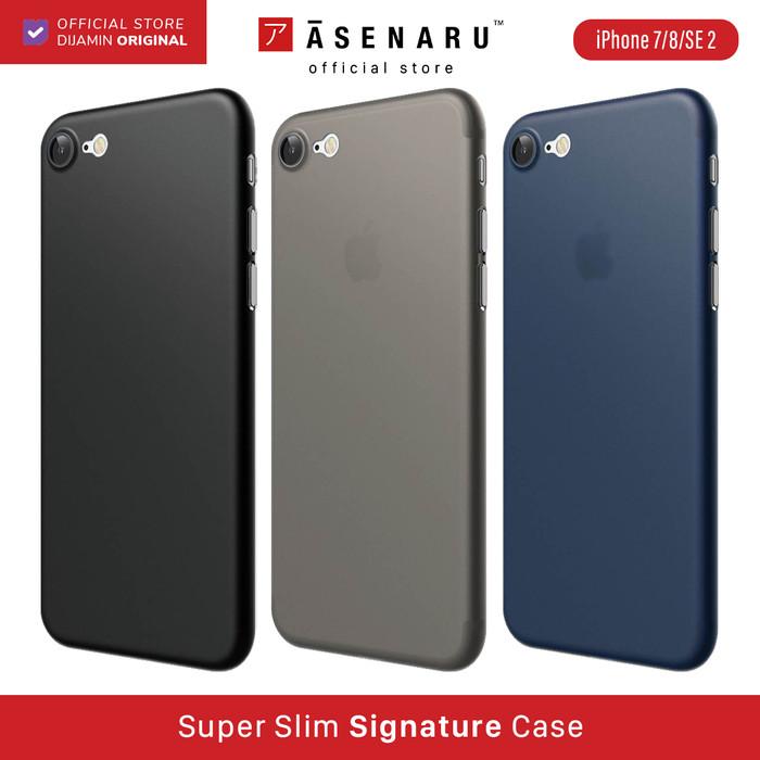 Foto Produk ASENARU iPhone 7/8/SE 2 2020 Case - Super Slim Signature Thin Casing - Biru dari Asenaru Official Store