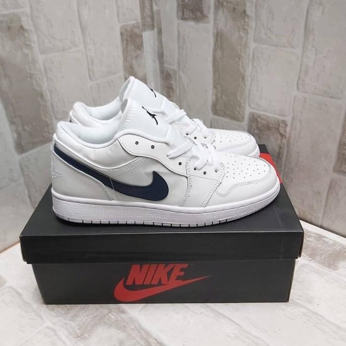 Jual Nike Air Jordan 1 Low White Obsidian Jakarta Barat